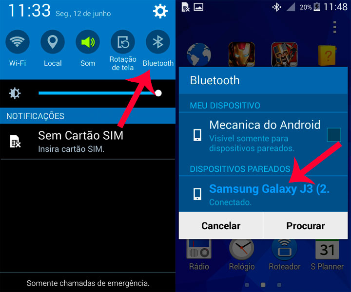 como descobrir o numero do celular pelo bluetooth