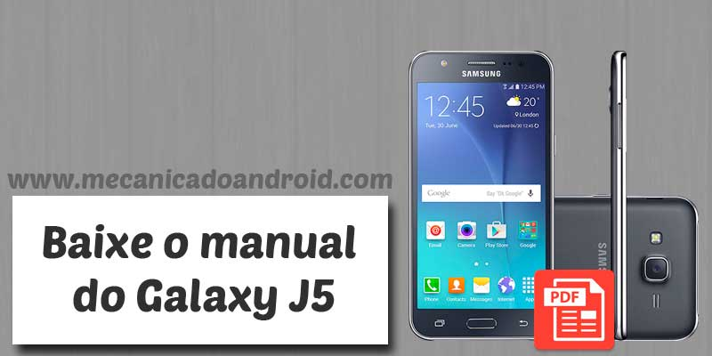 Download manual do usuário Galaxy J5