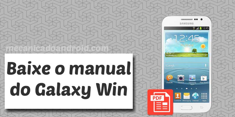 baixar manual do galaxy win