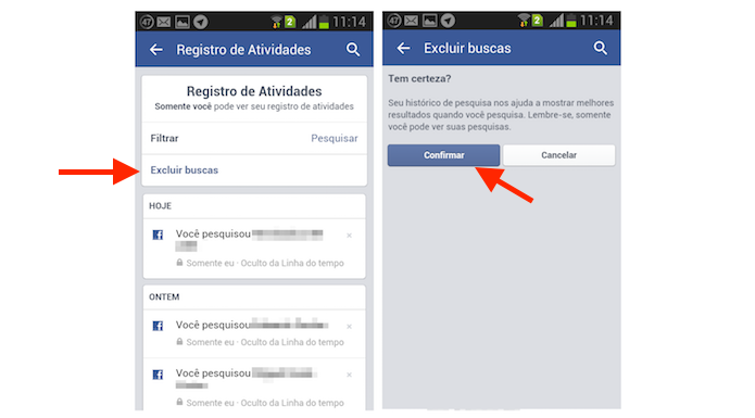 Como Apagar Fotos Do Face: Como Excluir Historico De Pesquisa No Aplicativo Do Facebook