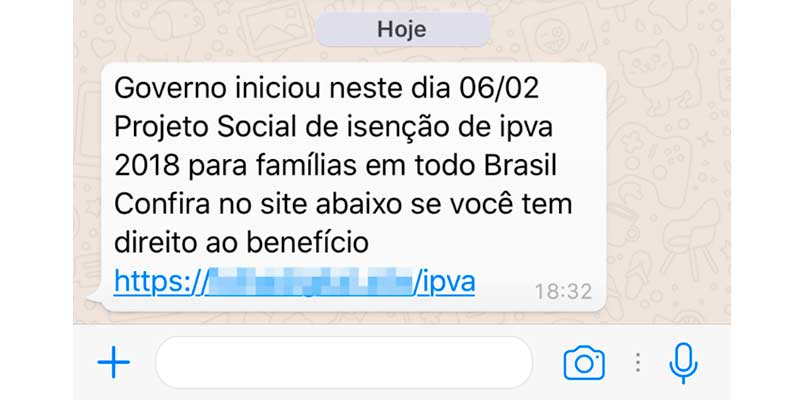 golpe do ipva no whatsapp