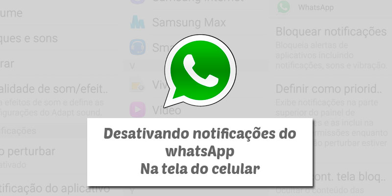 desativar notificações do whatsapp