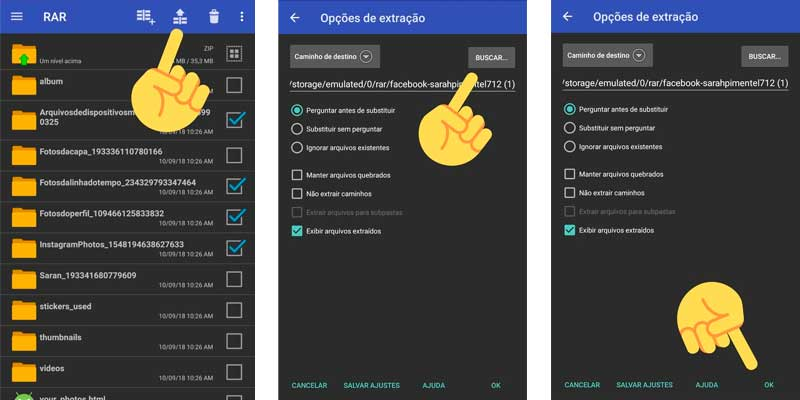 aplicativo rar android