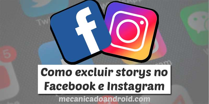 excluir storys facebook