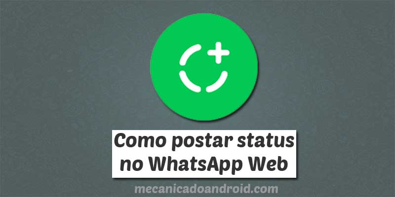 postar status no whatsapp web