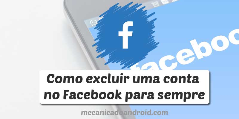 excluir conta no facebook